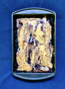 marble blueberry cobbler